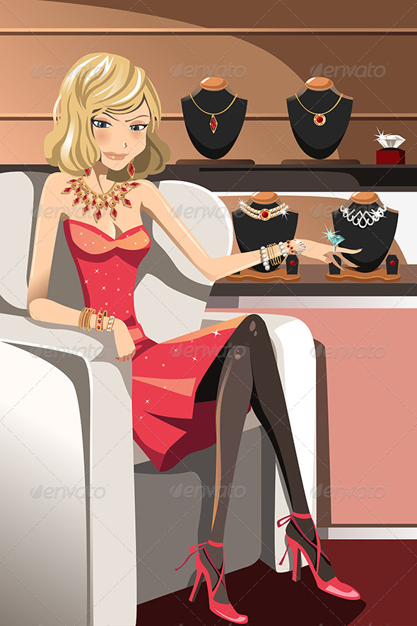 GraphicRiver Woman with Jewelry 6255852