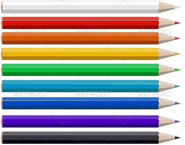 GraphicRiver Colored Pencils 5983831