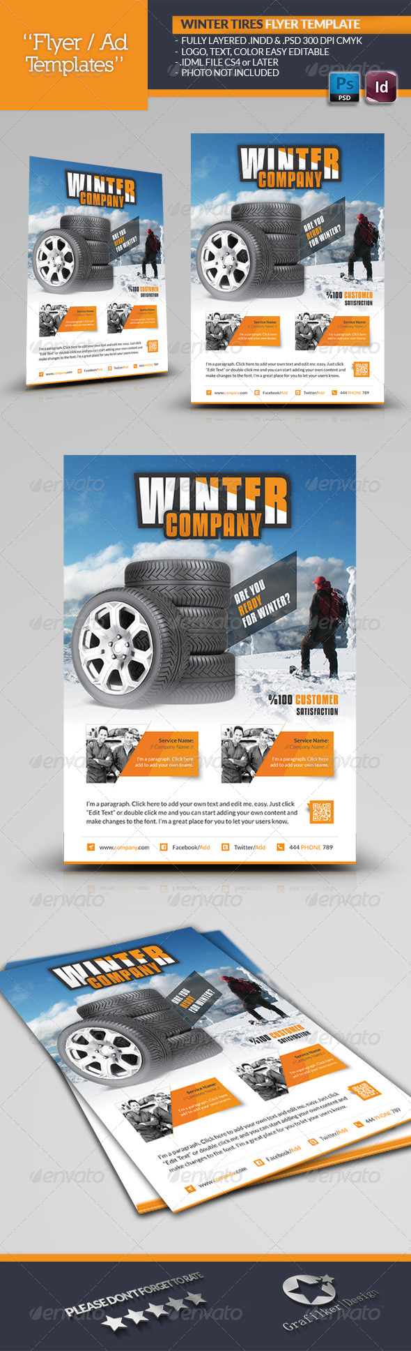 GraphicRiver Winter Tires Flyer Template 6255970