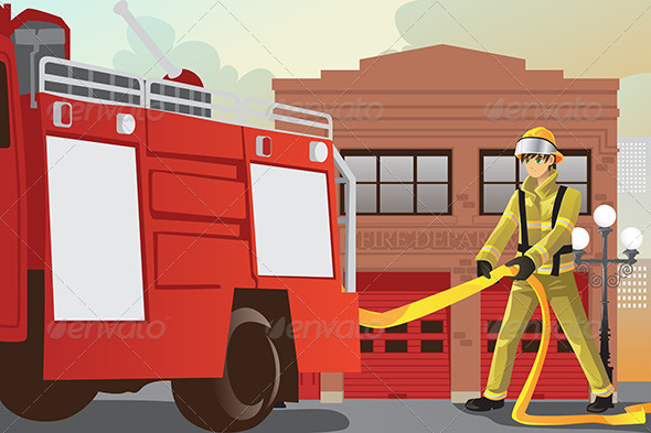 GraphicRiver Working Fireman 6256009