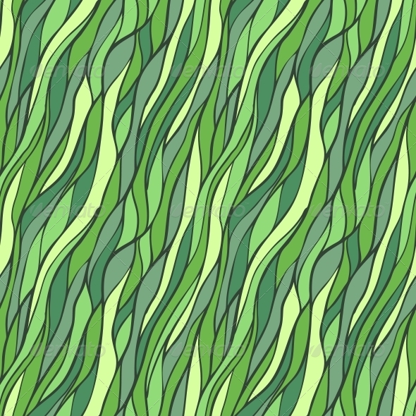 GraphicRiver Seamless Hand-Drawn Pattern with Abstract Waves 6256015