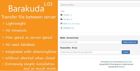 CodeCanyon Barakuda File transfer between server 6161615