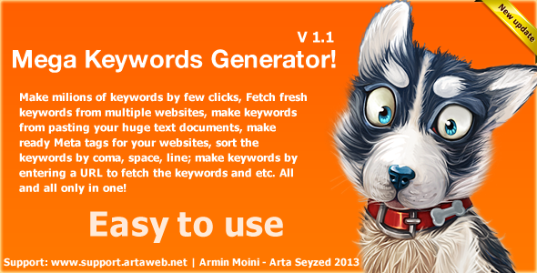 Mega Keyword Generator - CodeCanyon Item for Sale
