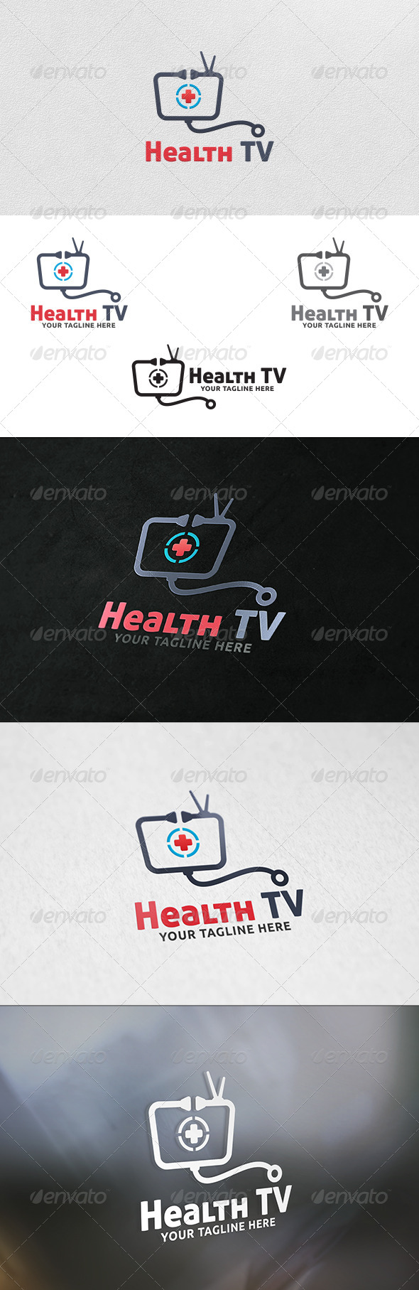 Health TV Logo Template