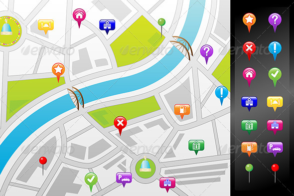 GraphicRiver GPS Street Map 6256387
