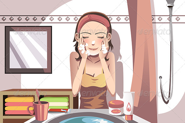 GraphicRiver Woman Washing Face 6256899
