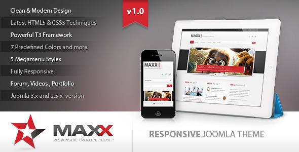 Maxx - Responsive Creative JoomlaTemplate - Joomla CMS Themes