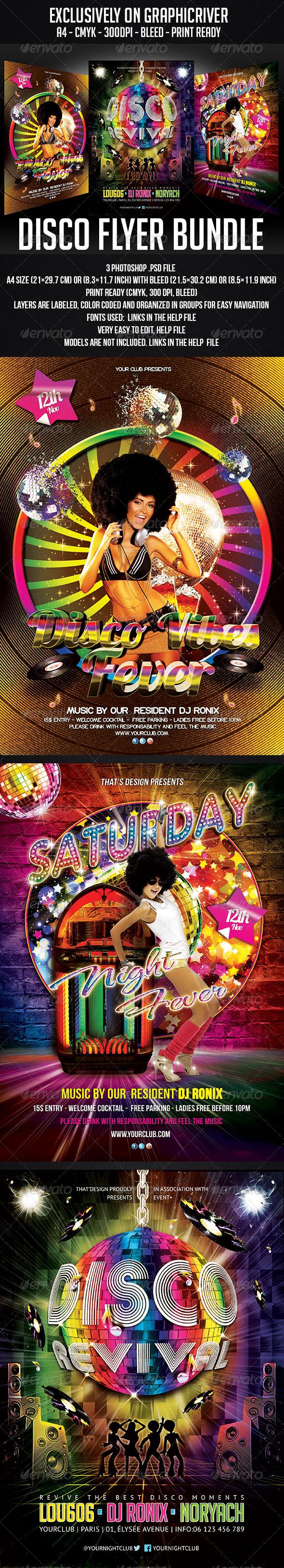 GraphicRiver Disco Flyer Bundle 6257096