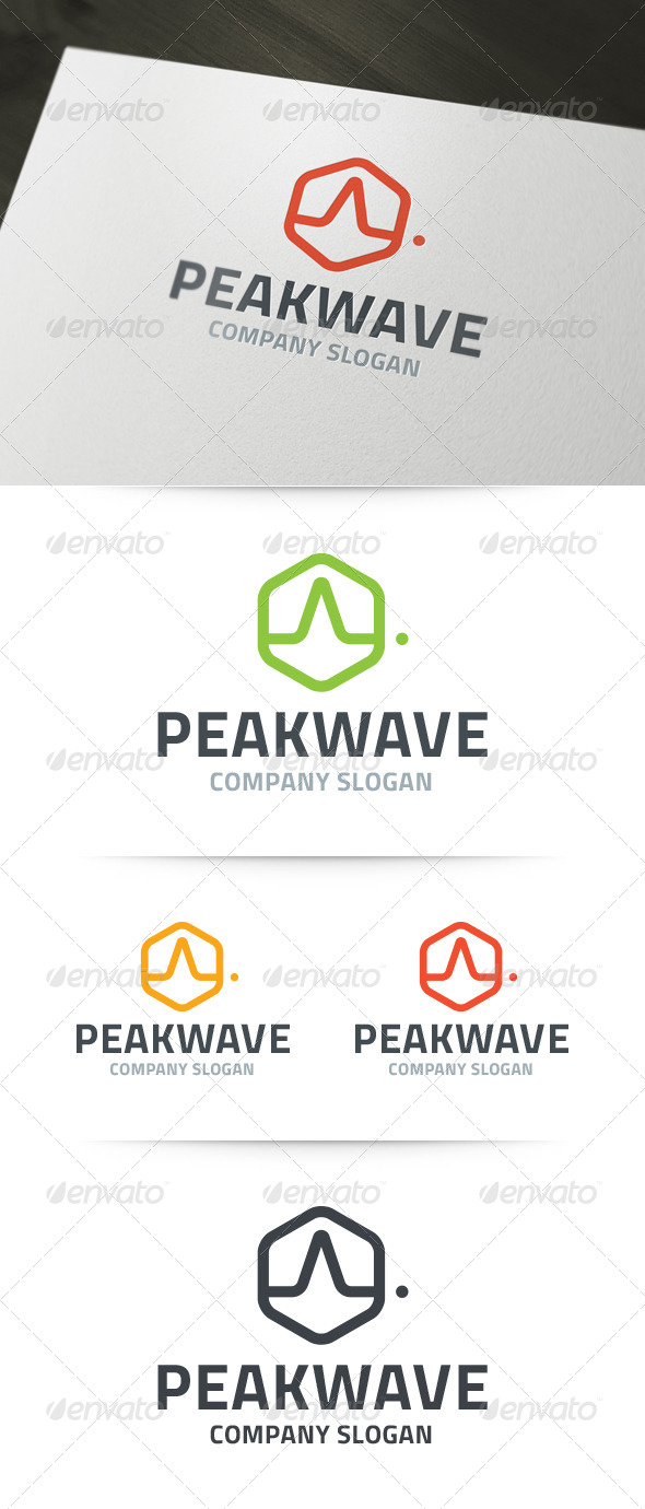 GraphicRiver Peak Wave Logo 6257133