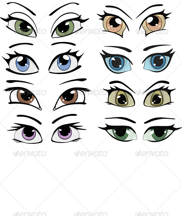 GraphicRiver Drawn Eyes Clip Art 6257134