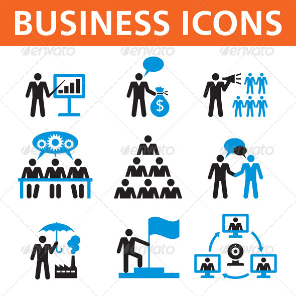 GraphicRiver Business Vector Icons 6257719
