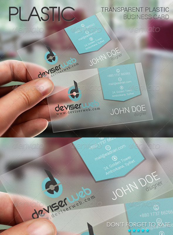 GraphicRiver Transparent Plastic Business Card 6257721