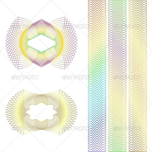 Decorative Rosettes. - Borders Decorative