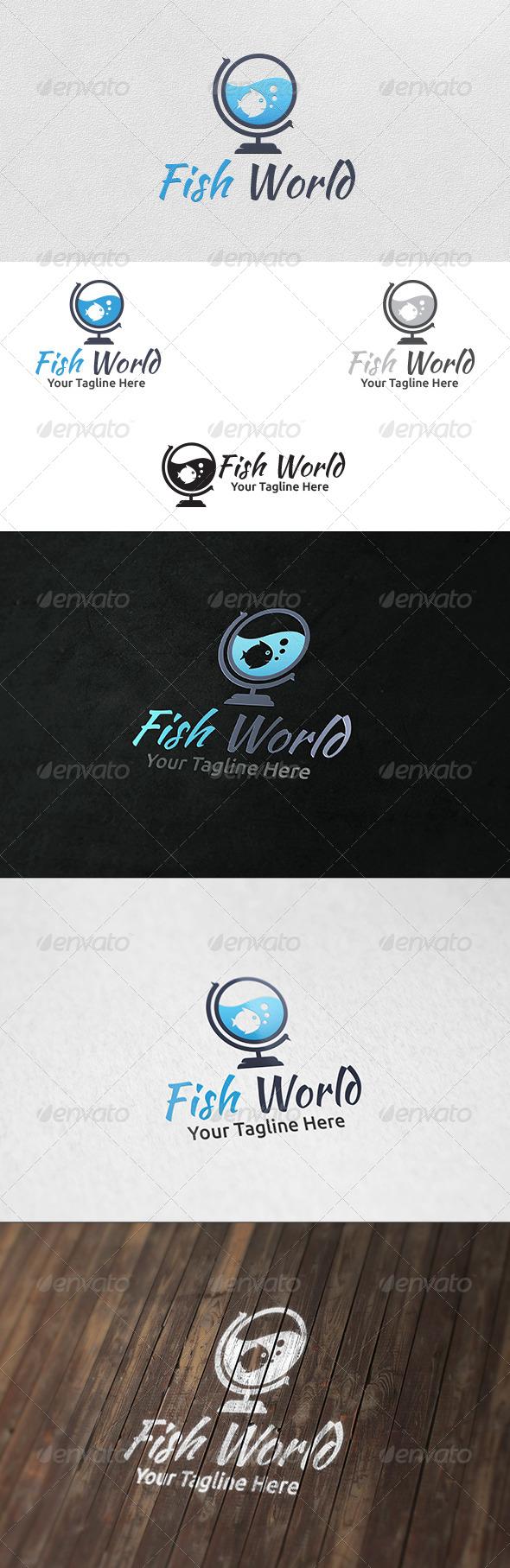 GraphicRiver Fish World Logo Template 6258171
