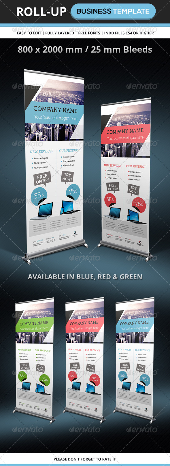 GraphicRiver Corporate & Business Rollup template 6241204