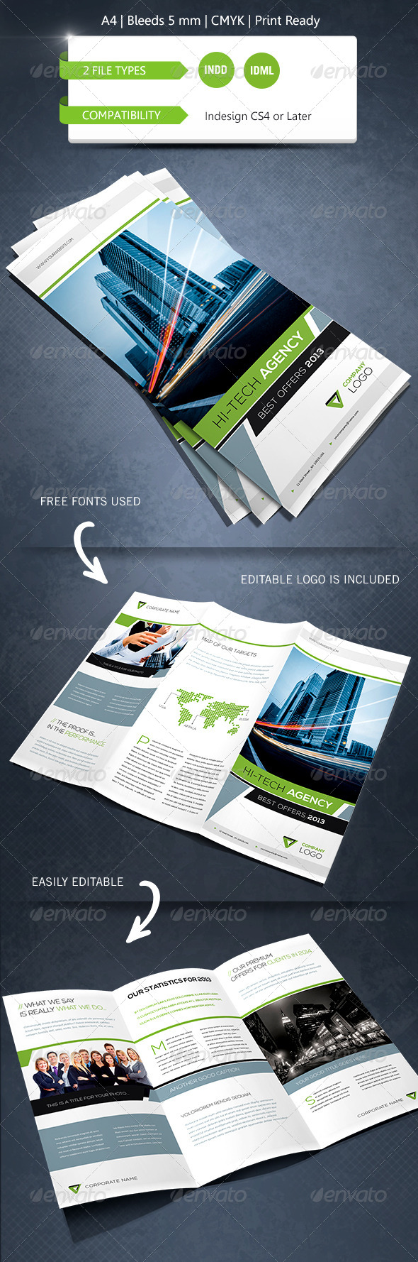 GraphicRiver Modern & Corporate Trifold Brochure Template 6258481