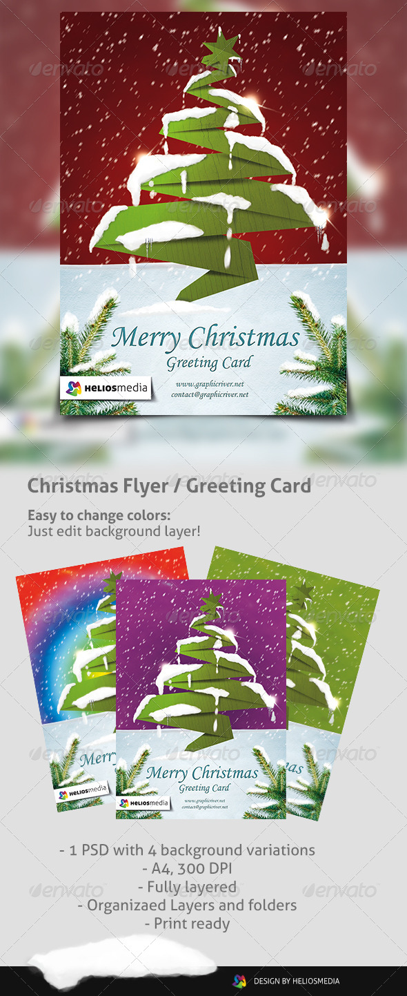 Christmas Flyer Greeting Card