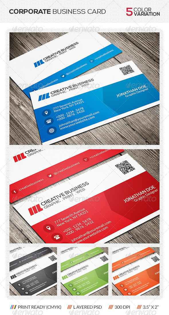 GraphicRiver Corporate Business Card 6259298