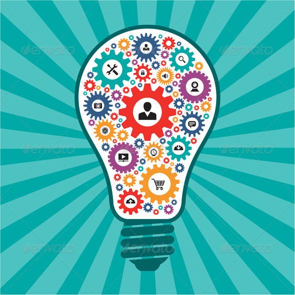 GraphicRiver Creative Idea Lamp 6259608