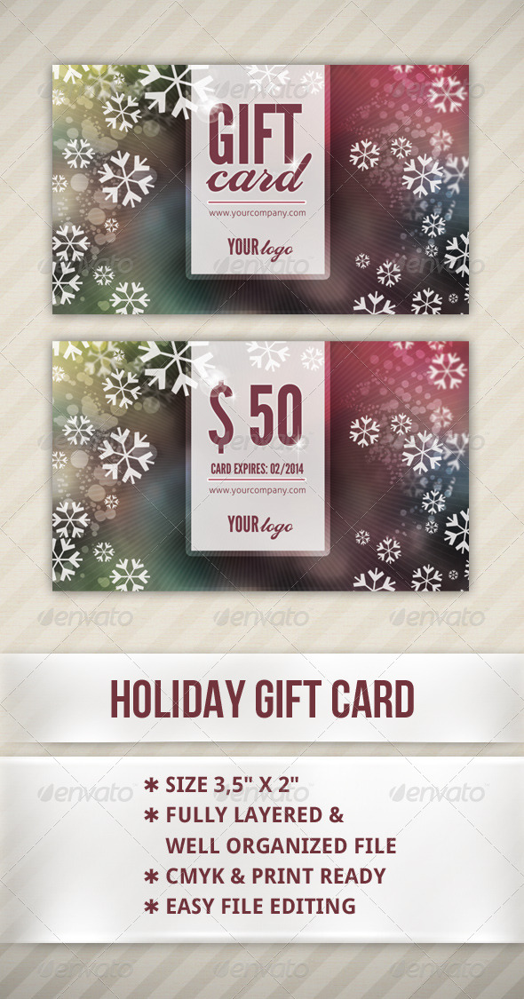 GraphicRiver Holiday Gift Card 6259691