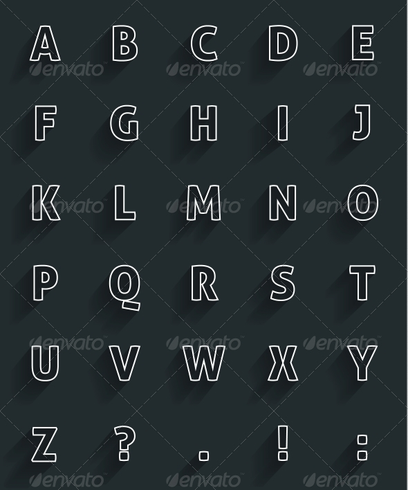 GraphicRiver Flat Alphabet with Long Shadow 6259736