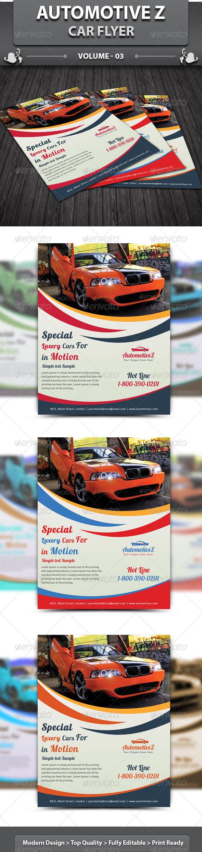 GraphicRiver AutoMotiveZ Car Flyer v3 6260016