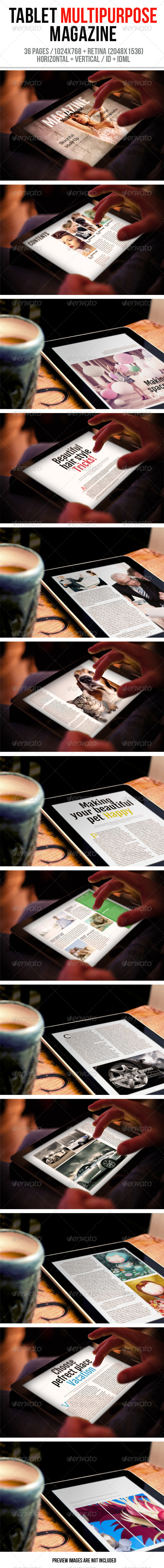GraphicRiver Tablet Multipurpose Magazine 6260237