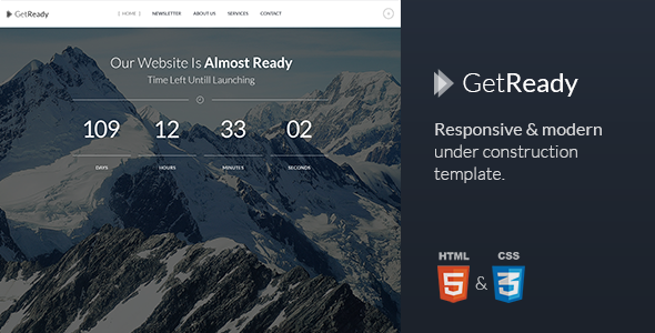 GetReady - Responsive Under Construction Template - Under Construction Specialty Pages