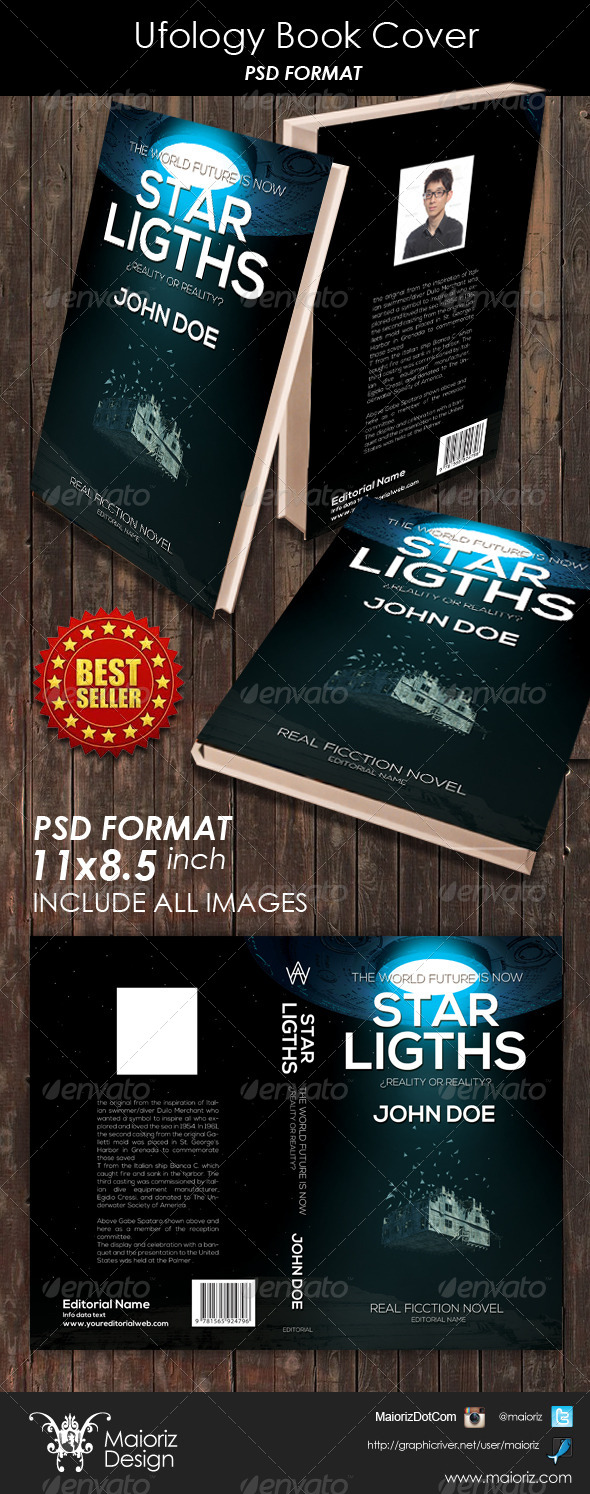 GraphicRiver Ufology Book Cover 6260252