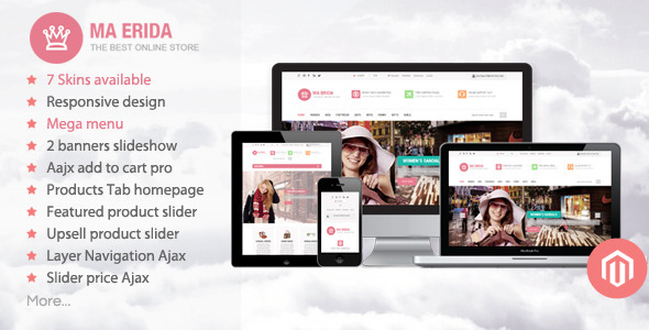 01 home.  large preview - Erida - Responsive Magento Theme