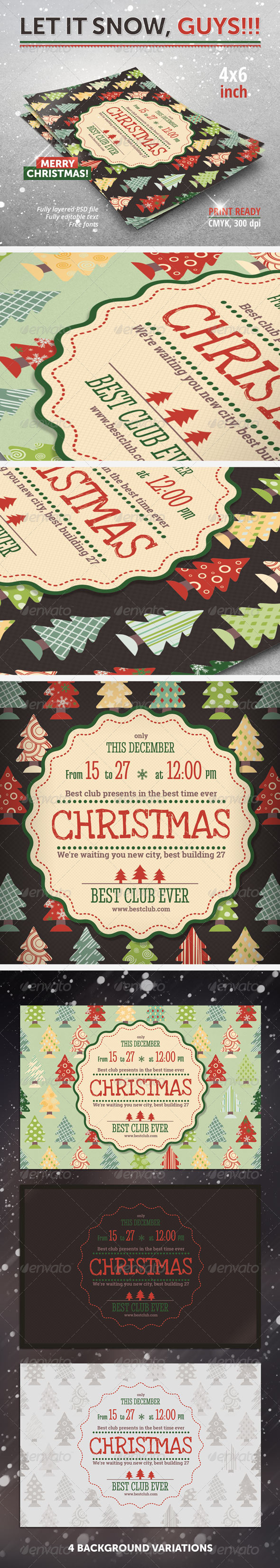 GraphicRiver Christmas New Year Party Flyer 6260381
