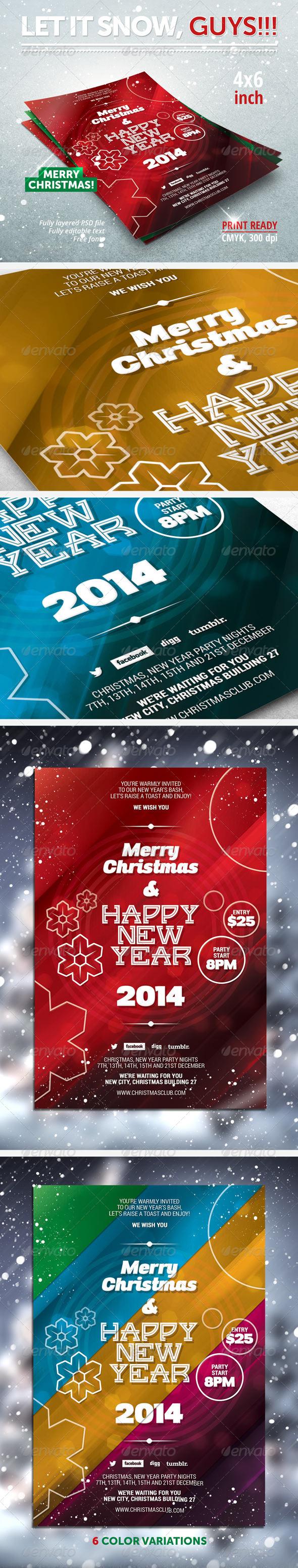GraphicRiver New Year Christmas Party Flyer 6241153