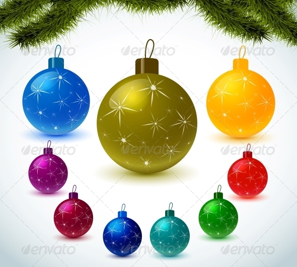 GraphicRiver Christmas Colorful Balls 6260754