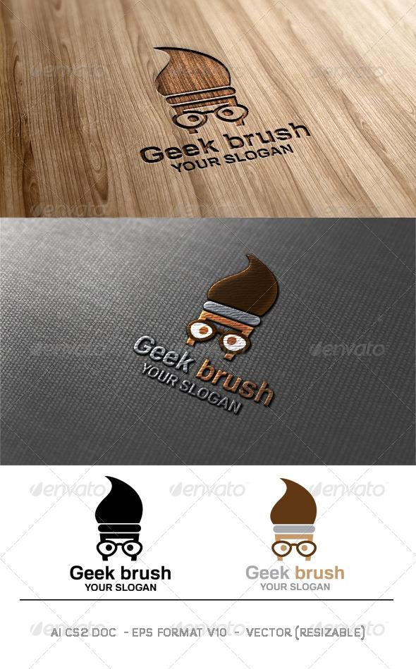 GraphicRiver Geek Brush Logo 6261495