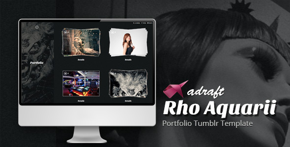Rho Aquarii - Portfolio Tumblr Template
