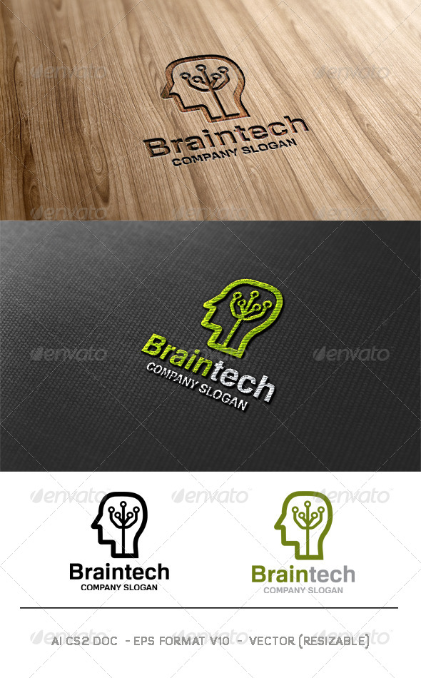 GraphicRiver Brain Tech Logo 6261744