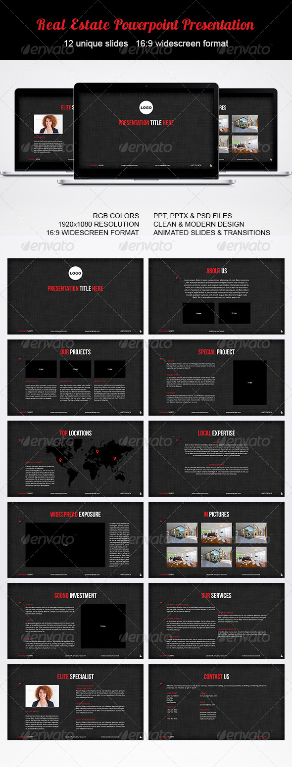 GraphicRiver Real Estate Powerpoint Presentation 6261923