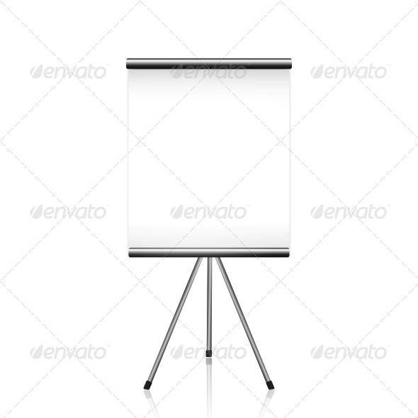 GraphicRiver Projector Screen Tripod on White 6261937