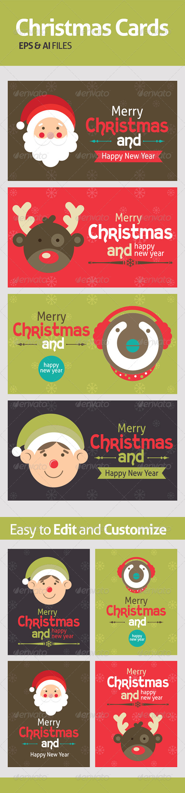 GraphicRiver Vectors for Chrismas Cards 6254831