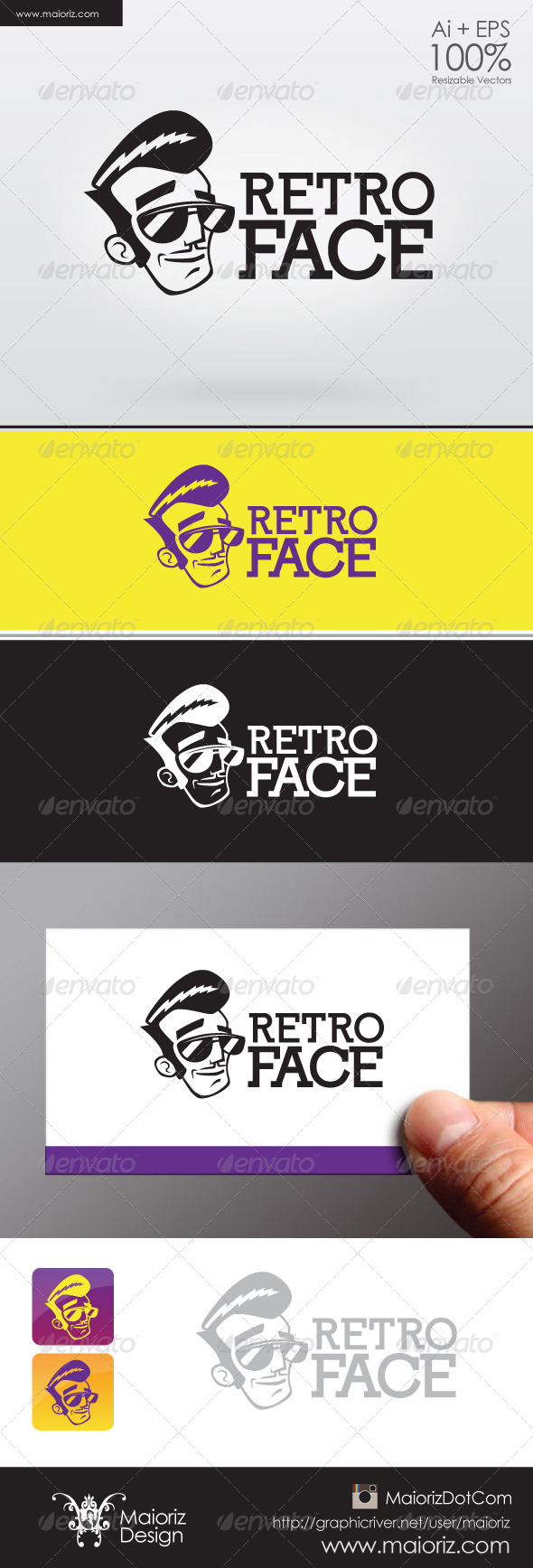 GraphicRiver Retro Face Logo 6262455