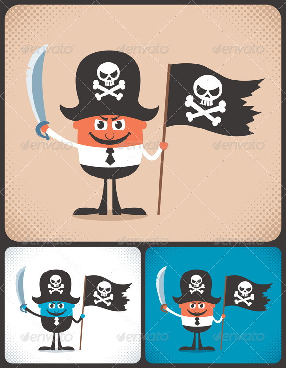 GraphicRiver Pirate Businessman 6262893