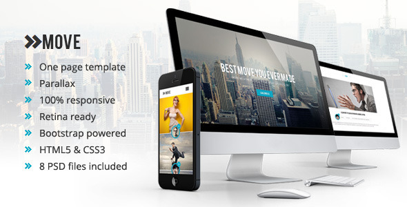 ThemeForest Move Responsive One Page Parallax Template 6263090