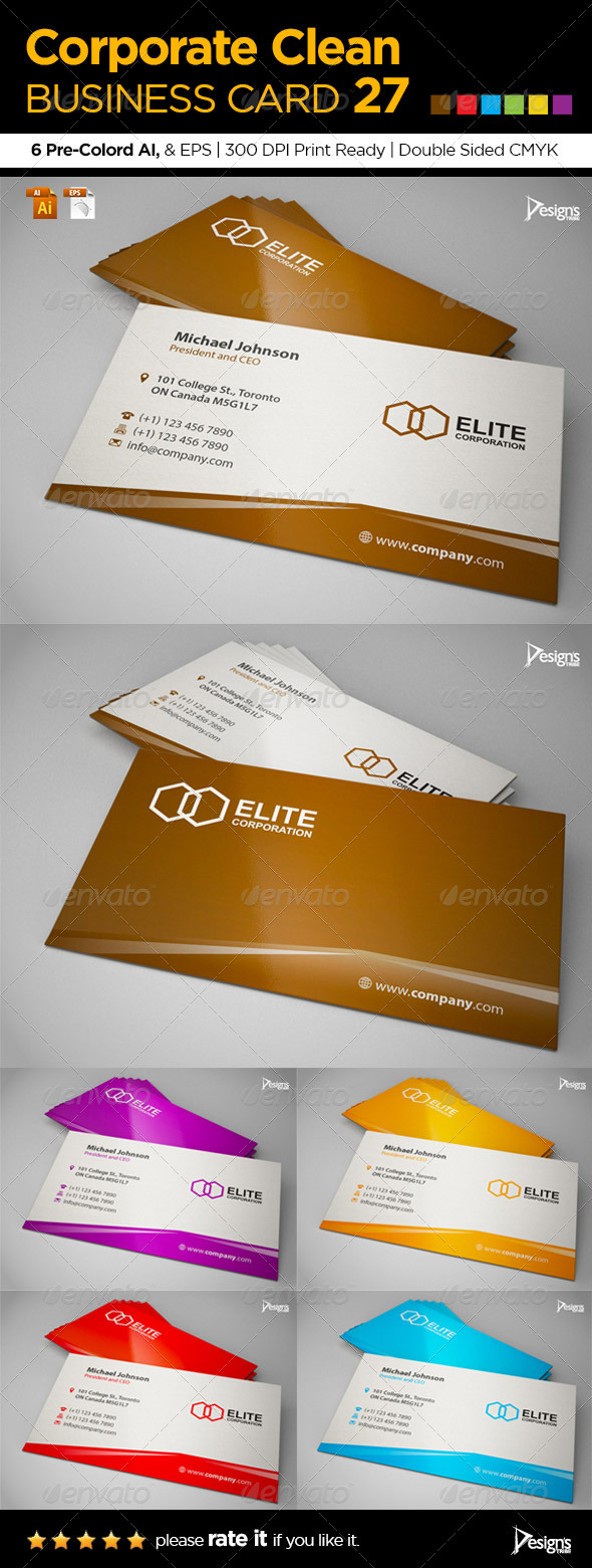 Corporate Clean Business Card 27