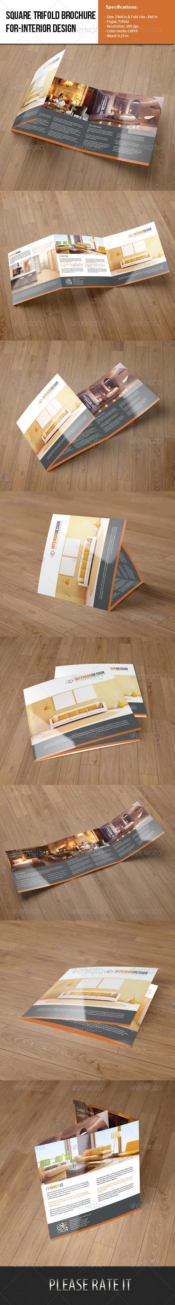 GraphicRiver Square Trifold Brochure-Interior Design 6263281