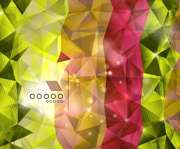 GraphicRiver Shiny Triangles Geometric Shape Background 6263436