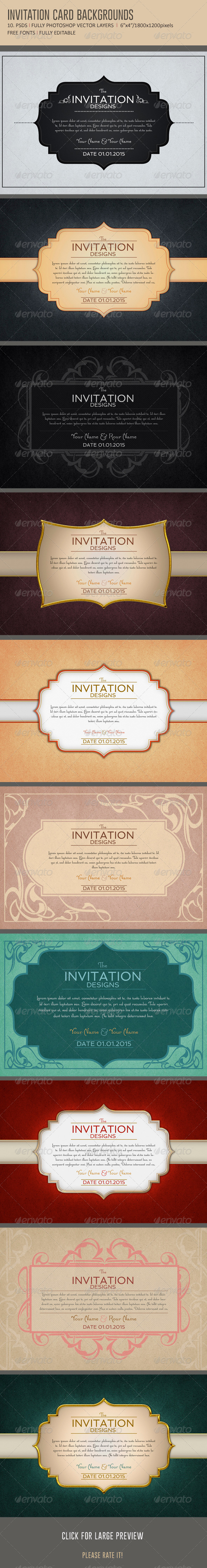 GraphicRiver Invitation Card Backgrounds 6263455