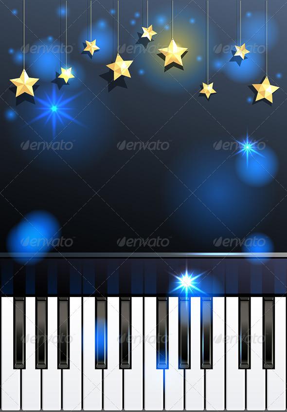 GraphicRiver Piano and Stars 6263260