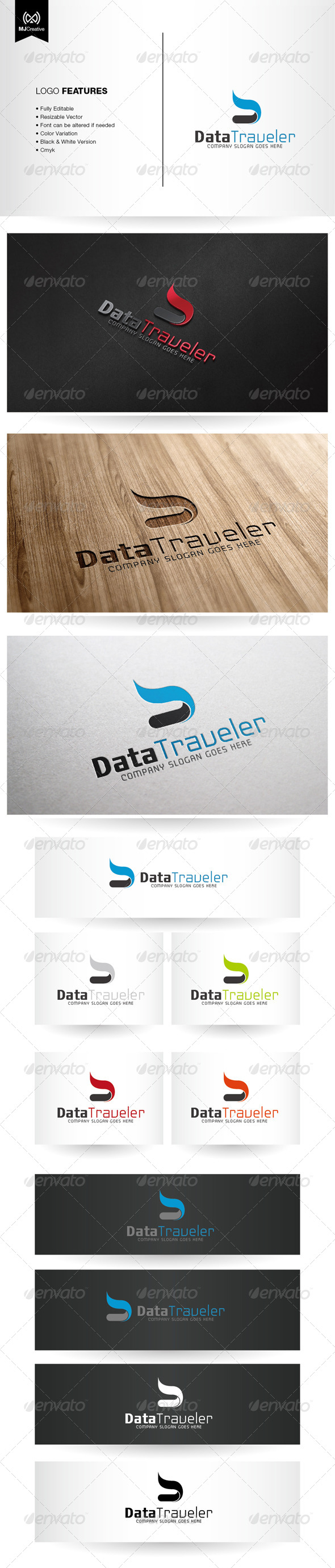 GraphicRiver Abstract Letter D Logo 6263662