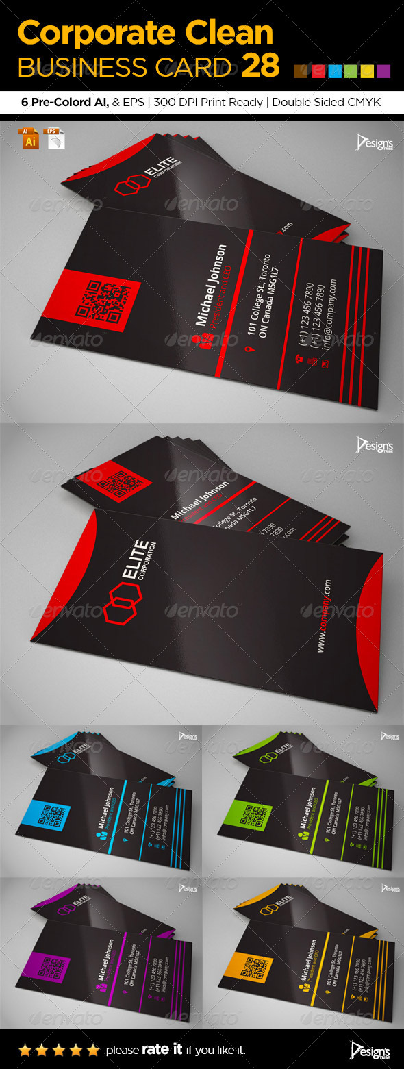 Corporate Clean Business Card 28