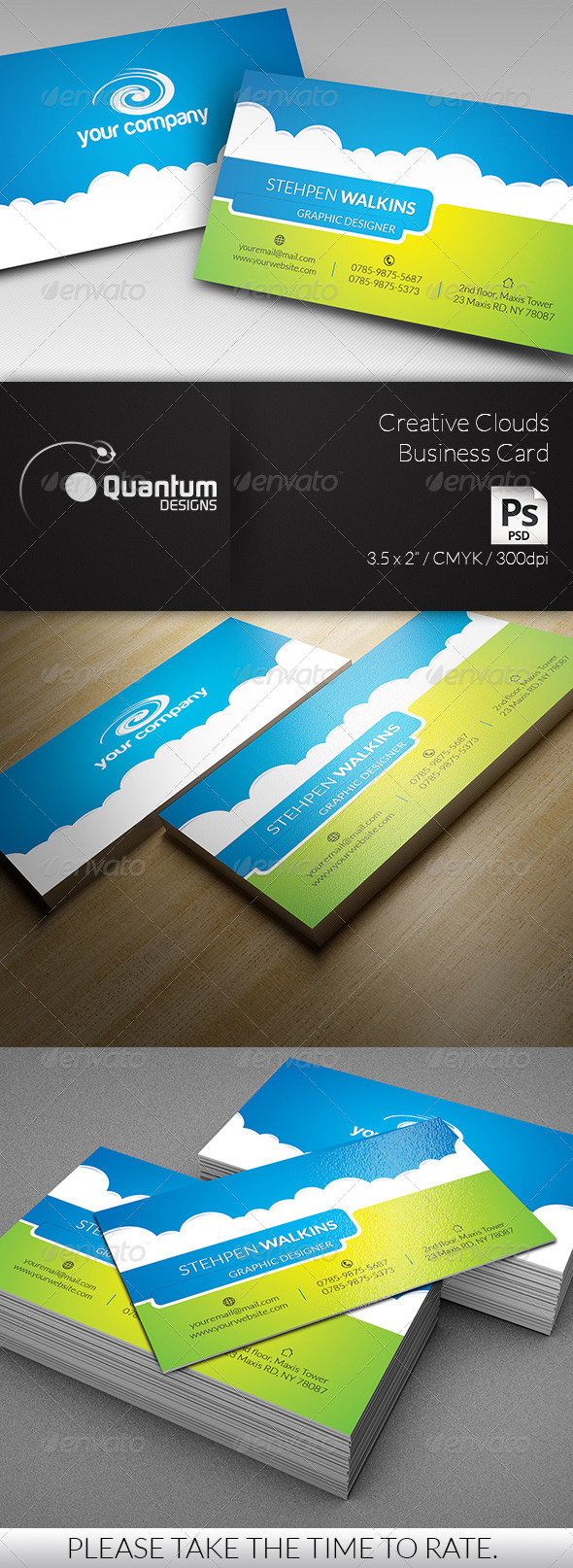 GraphicRiver Creative Clouds Business Card 6220087
